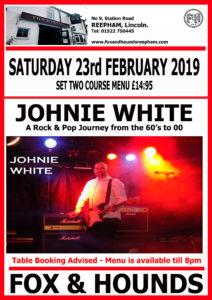 Johhny White web 212x300 - Upcoming Events
