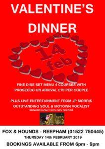 Valentines web 212x300 - Thursday 14th Feb - Valentines